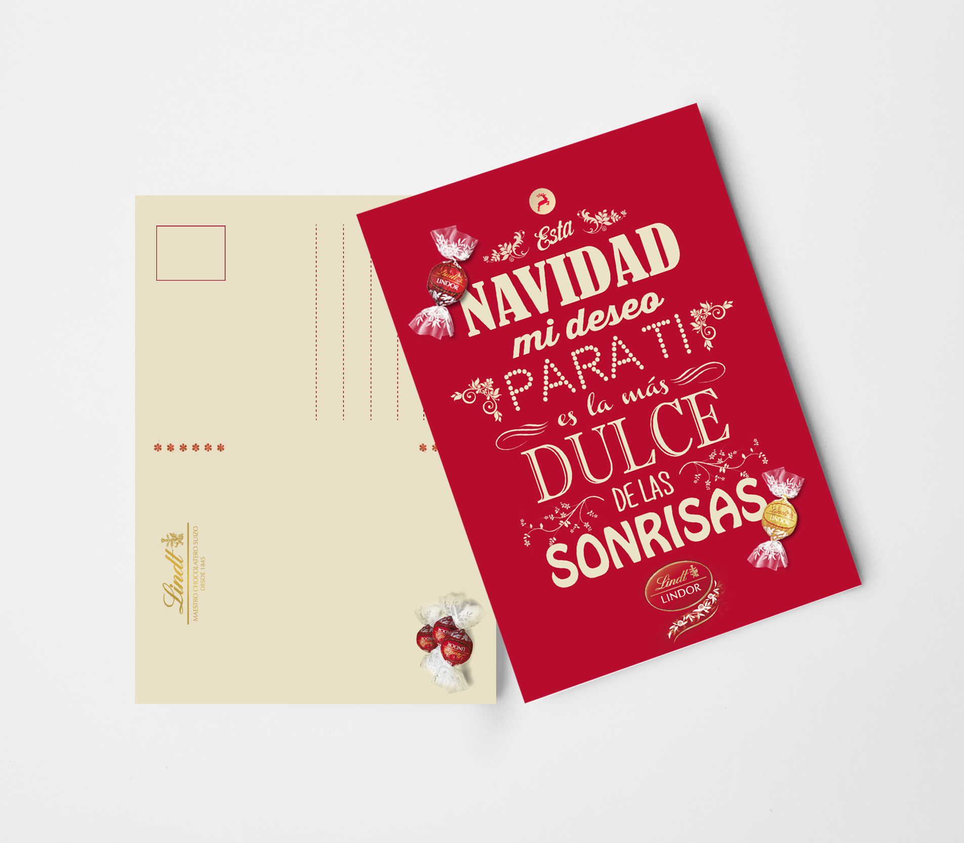 """Lindt"" Christmas Postcard"