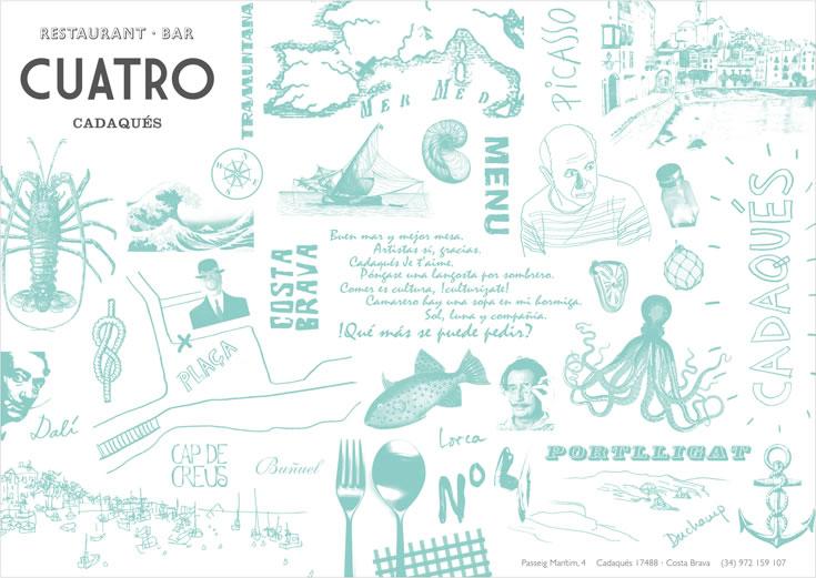 """Cuatro"" (Cadaqués  Restaurant) Brand Identity"